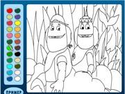 Пингвинёнок Игра раскраски лунтик онлайн