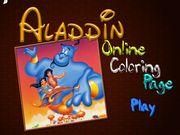 Раскраска: Алладин и друзья