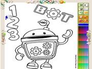 игра раскраска умизуми робот бот